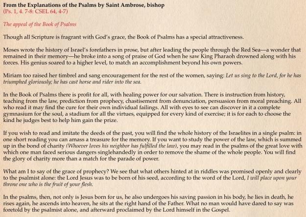 Psalms   St  Peter's Men's Prayer Group